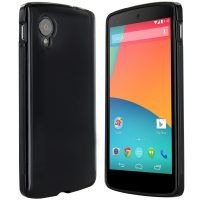 Google Nexus 5 Hülle in Schwarz - Silikonhülle Case Schutzhülle Cover