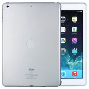 iPad Air Hülle Silikonhülle Schutzhülle Case mit Smart Cover Aussparung für Apple iPad Air (Transparent-weiß)