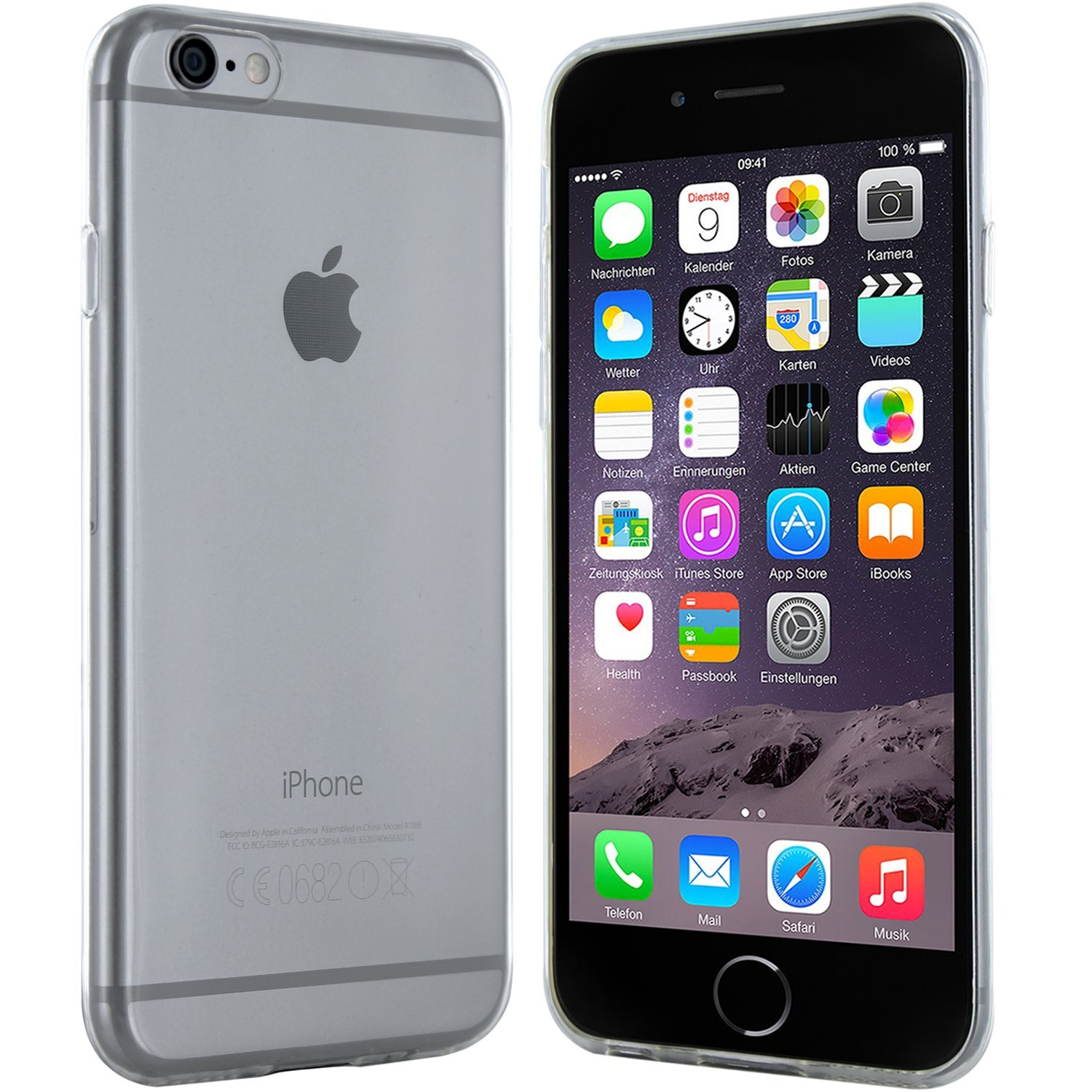 iPhone 6 Plus Hülle in Transparent - Silikonhülle Case Schutzhülle Tasche für Apple iPhone 6 Plus