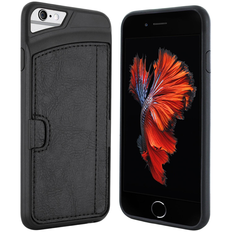 iPhone 6s Premium Silikonhülle mit Kreditkartenfach