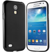 Samsung Galaxy S4 Mini Hülle in schwarz