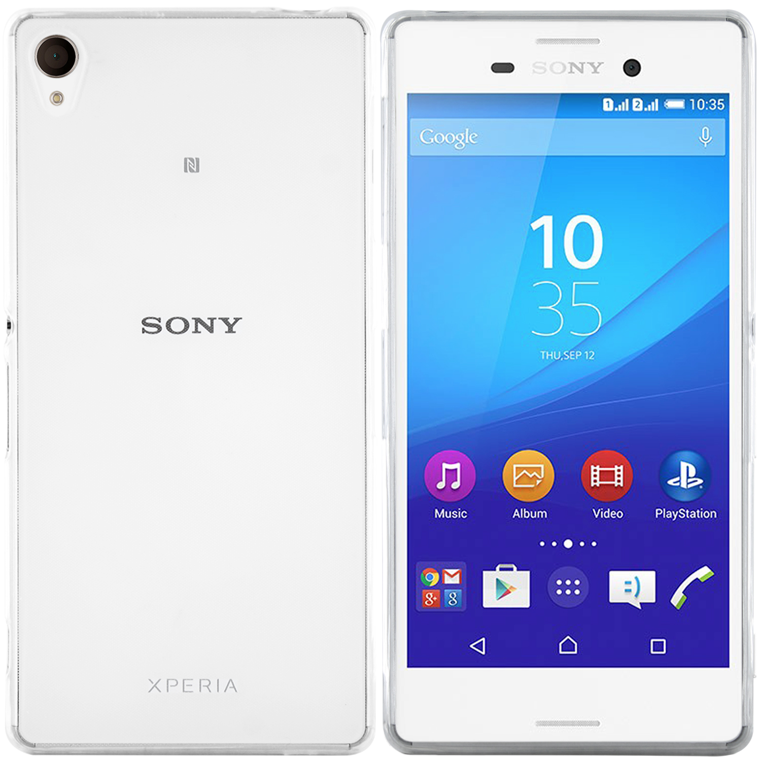 Sony Xperia M4 Aqua Hülle in Transparent