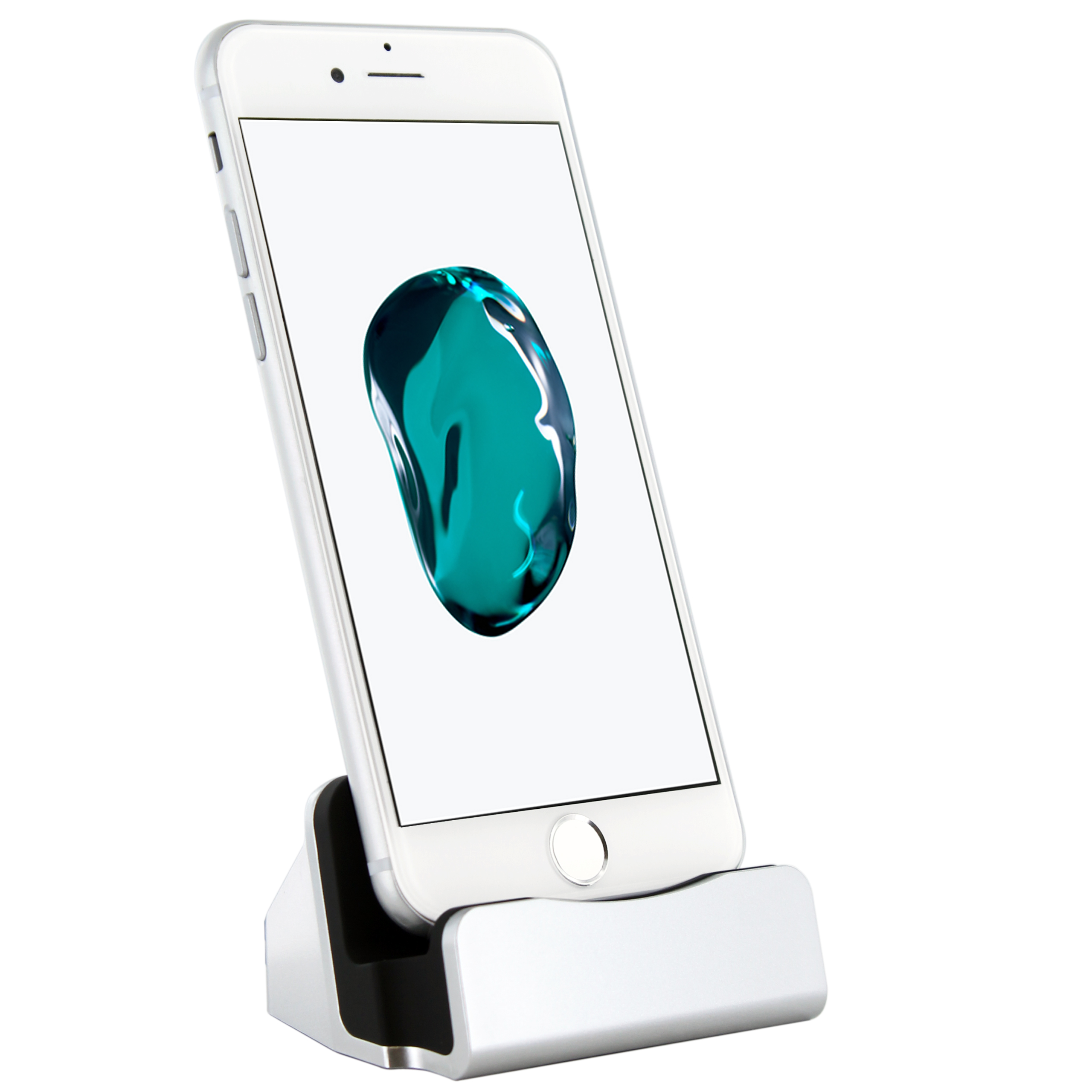 iphone 7 dockingstation silber