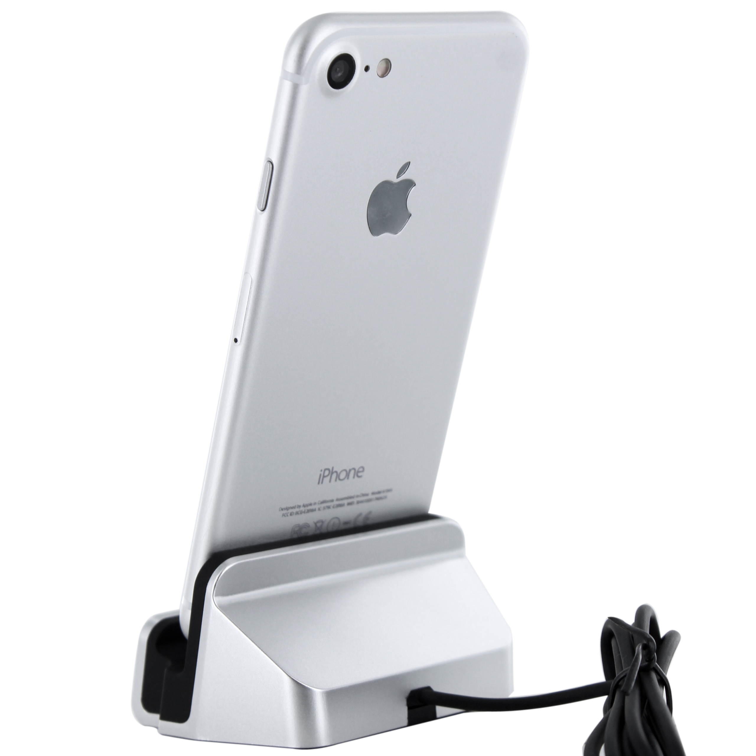 iphone 7 lightning dockingstation silber f r iphone 7 se. Black Bedroom Furniture Sets. Home Design Ideas