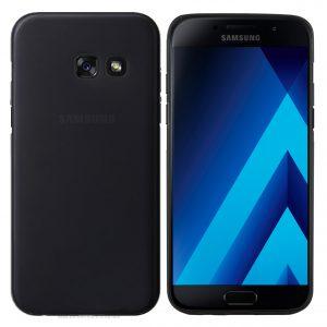 Samsung Galaxy A3 2017 Hülle Schwarz matte Rückseite