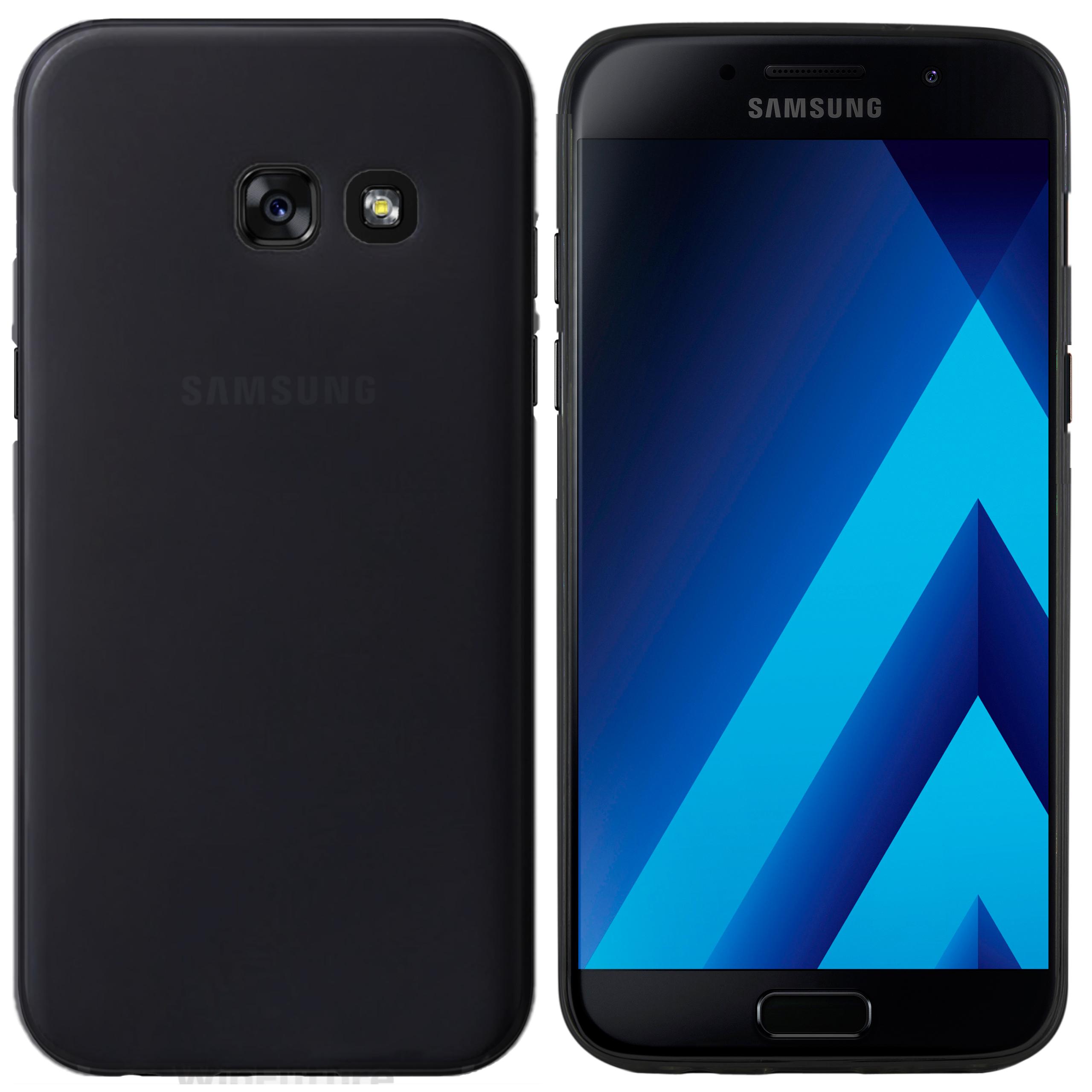 Samsung Galaxy A5 2017 Hülle Schwarz matte Rückseite