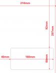Lieferscheinpapier 160mm x 80mm