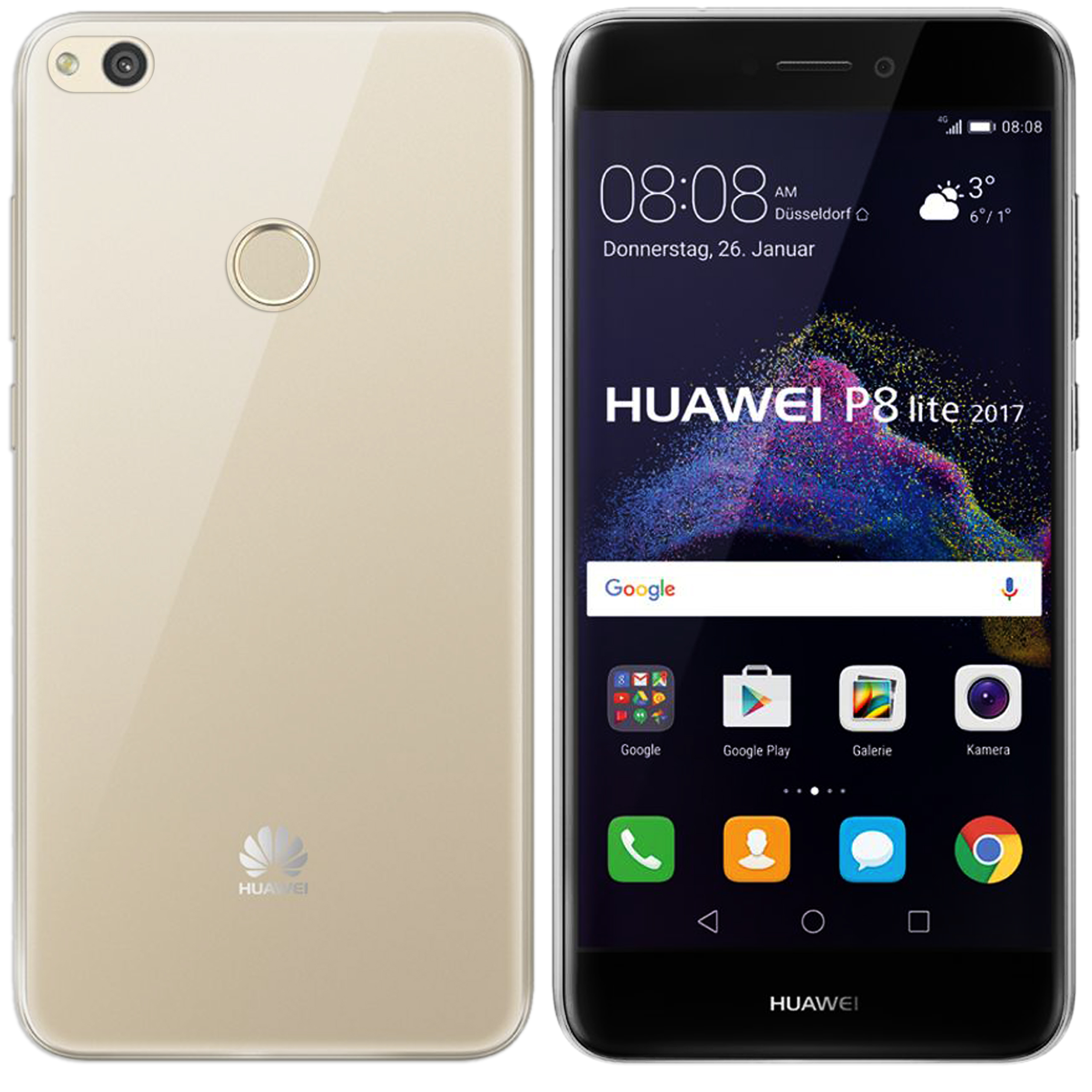 Huawei P8 2017 lite Hülle in Transparent