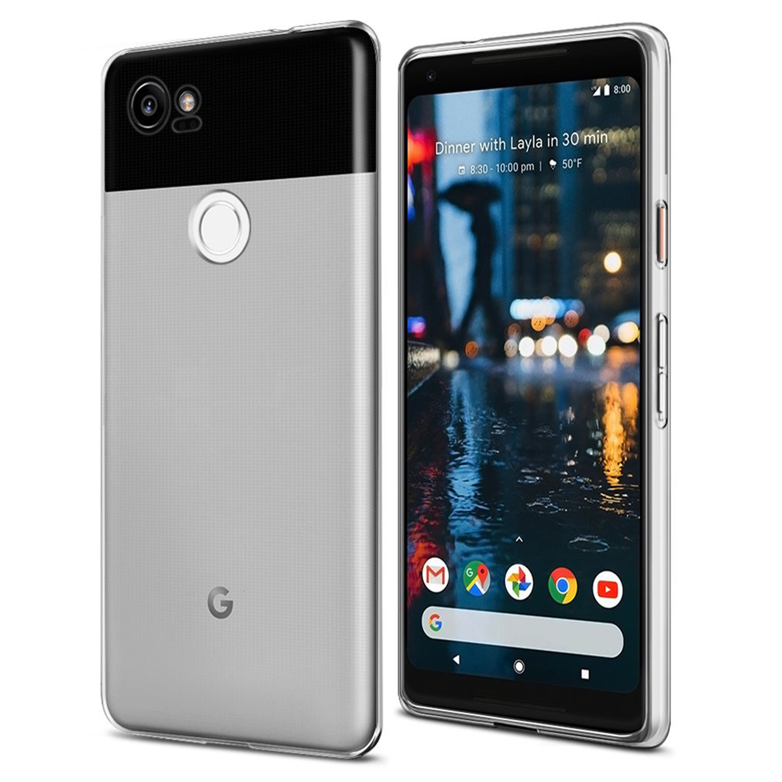 Google Pixel 2 XL Hülle in transparent