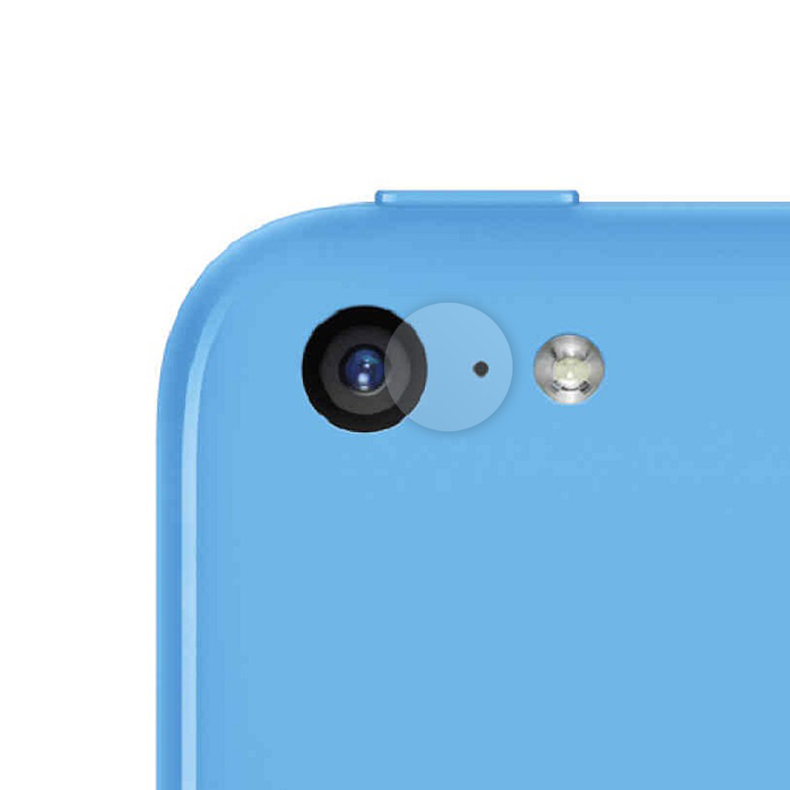 iPhone 5C Kameraschutz Panzerglas Folie