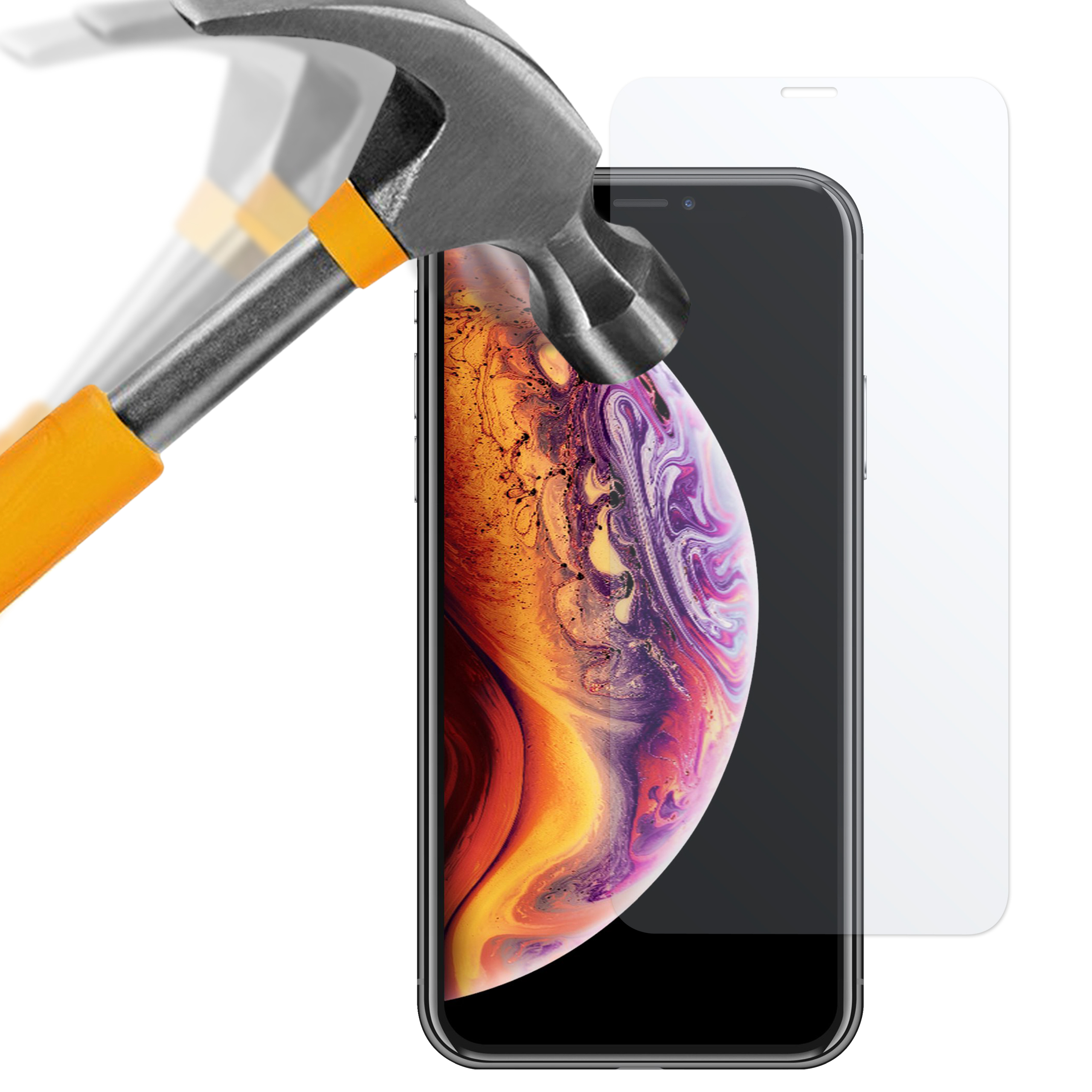 Apple iPhone XS Max Panzerglas Folie